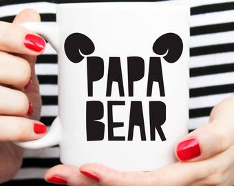 papa bear mug, gift for dad, fathers day gift, happy fathers day, present for dad