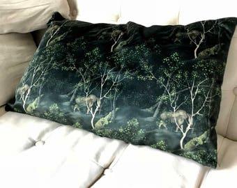 Alaskan Moose velour pillow case