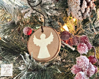 Angel Rustic Ornament | Reclaimed Wood Christmas Ornament | Hostess Gift