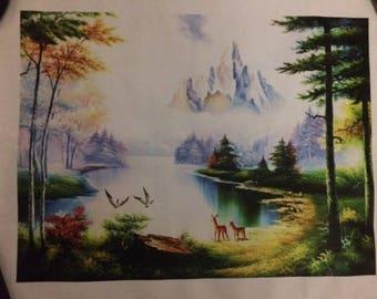 Unframed canvas art-nature