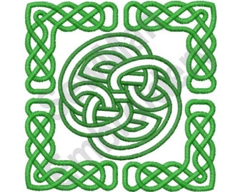 Celtic Square - Machine Embroidery Design, Celtic Knot