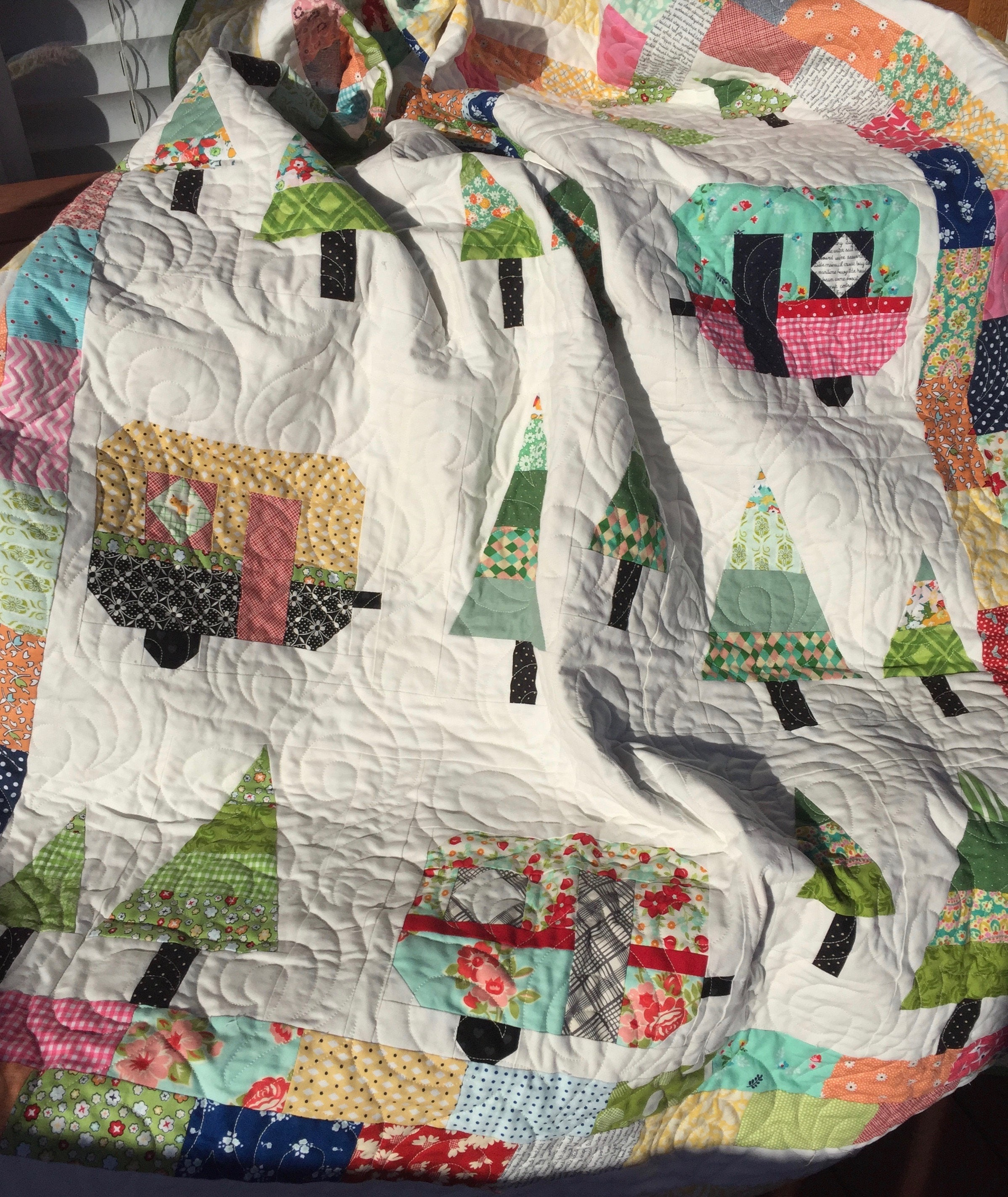 Quilt Pdf Quilt Pattern Camper From Thevintagedaisyco On