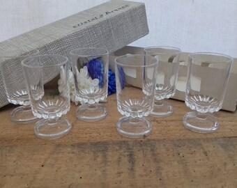6 Diges D'Arques digestive liqueur glasses vintage french
