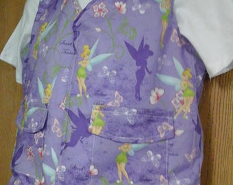 CLEARANCED! Size Med Weighted Vest for Child w/Special Needs and Sensory Issues. Tinkerbell Print