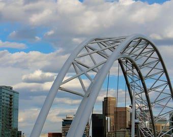 Denver Bridge Denver Skyline