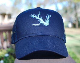 Lake Fork Cap, Men's Personalized gifts, Embroidered Caps,  Men's caps,  Custom caps, Embroidered gifts,  Monogramed caps,  Fishing ballcap