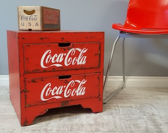 Funky Coca Cola Bedside Cabinets