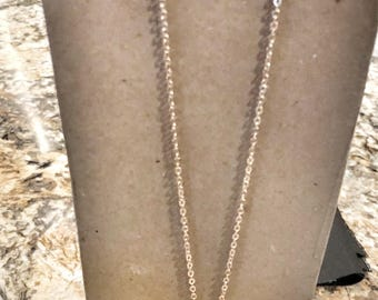 """28.5"""" Gold Charm Necklace - With Gold Hoop"""