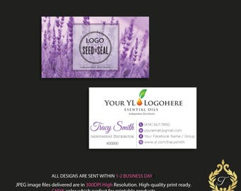 Custom YL Business Card, Personalized YL Business Card, Lavender Business Card, YLeo Marketing - Printable Business Card, Digital file YL04