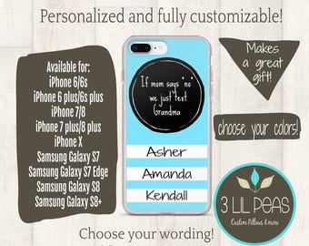 Personalized Grandma Phone Case, iPhone case for Grandma, Grandma gift, Birthday gift for Grandma, Cell Phone Case Personalized, Aunt Gift