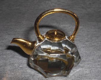 Teapot Laura - miniature collectible crystal figurine