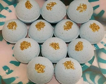 Peppermint Spa Scent Float & Spin Bath Bombs Lot of 12 (1oz)