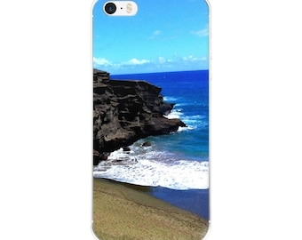 Phone Accessories/Green Sand Beach/ Original Photography/iPhone 5 case/ iPhone Case 6, 7 , 8, 8 plus