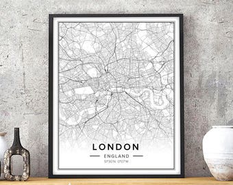 London Wall Art | Etsy