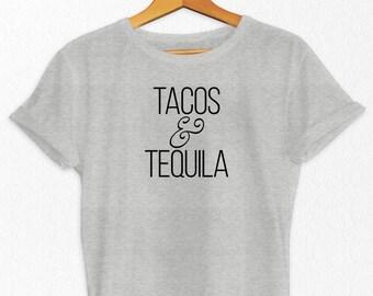 Tacos and Tequila T-Shirt - Tequila T Shirt - Comfortable T Shirt - Funny T-Shirt - Drinking T-Shirt - T-Shirts - Women's T-Shirt