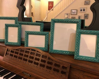 Set of 6 Picture Frames -Teal