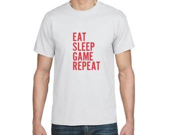 Eat Sleep Game Repeat - Funny T-shirt