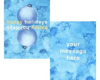minimalistmas customized holiday card