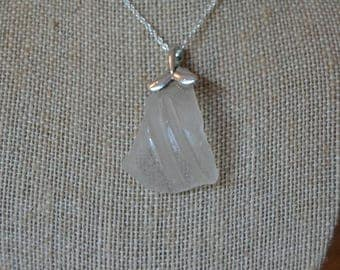 Clear Sea Glass Bottle Neck and Whale Tail