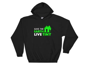 Save the Earth. Live Tiny Hooded Sweatshirt