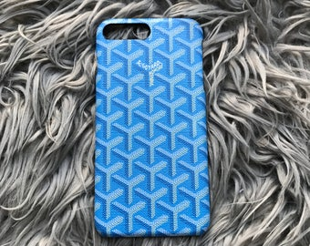 Custom iPhone 8 plus IPhone 8 IPhone 7 plus iPhone 7 blue Goyard case