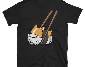 Funny Sushi Corgi T-Shirt, Cute Corgi Gifts, Corgi Dog Shirt
