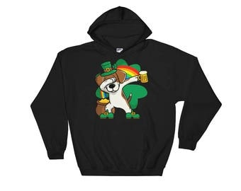 Saint Patrick's Day Beagle Hooded Sweatshirt