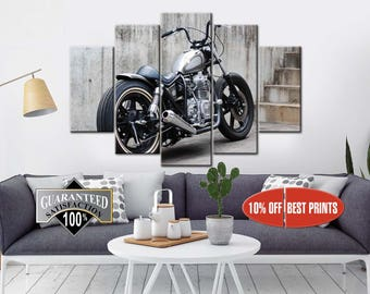 Exceptionnel Motorcycle Wall Art | Etsy