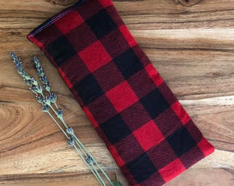 Microwavable Bean Bag - Buffalo Plaid - Hot Pack - Relaxation Gift - Flax Seed Heat Pad - Lavender Heat Pack - Heating Bean Bag Pad