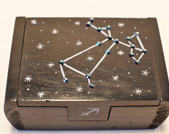 Sagittarius zodiac constellation box