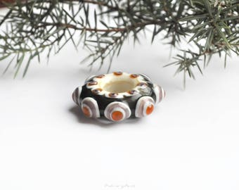 Gray glass star,  lampwork pendant, glass pendant, holiday decorations, mandala pendant