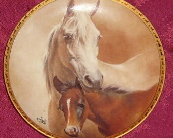 "American Artists ""Arabian Mare and Foal by Fred Stone"