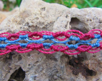 Macrame bracelet, jewerly macrame, knots
