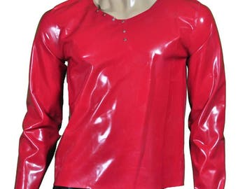 Latex shirt Longsleeve Mens