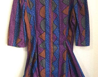 Coloful Patterned Non-Closing Blouse
