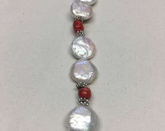 Mother of Pearl with Red coral