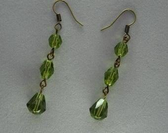 Pretty, green beaded earrings.