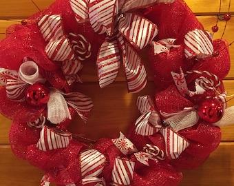 Christmas Deco Mesh Wreath.