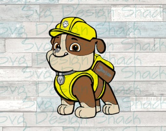 Paw Patrol Rubble SVG, DXF, EPS, Studio 3, Png