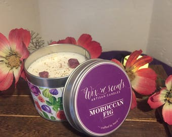Moroccan Fig Hand Made Scented Candle.