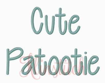 50% Sale!! Cute Patootie Embroidery Fonts 3 Sizes Fonts BX Fonts Embroidery Designs PES Fonts Alphabets - Instant Download