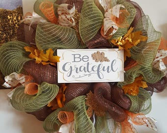Be Greatful - Fall Wreath