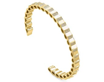 Scales bangle - yellow gold
