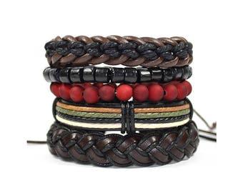 5 Pack Flushed Bracelet Set
