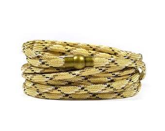 Multi Wrap Paracord in Khaki Bracelet
