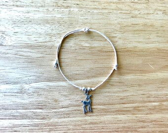 Bambi Charm Hemp Bracelet