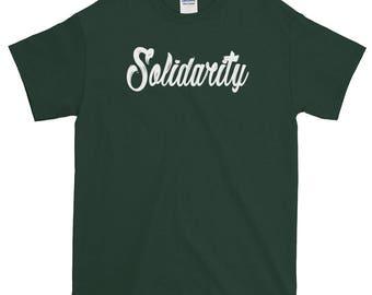 Solidarity Men's White Print Short-Sleeve T-Shirt