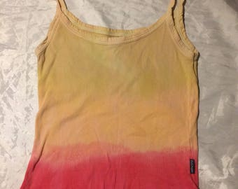 Hand Dyed Vest Top Size Medium Upcycled