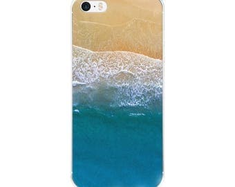 Calm Ocean Bird Eye Holiday Clear Case for iPhone X, iPhone 8/8 Plus, iPhone 7/7 Plus, iPhone 6/6s, iPhone 6 Plus/6s Plus, iPhone 5/5s/SE