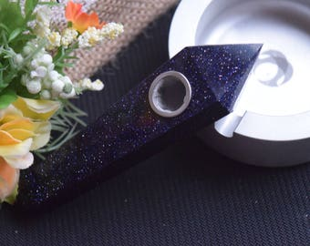 Super blue sandstone pipe, crystal pipe, quartz pipe ,gemstone pipe, raw stone pipe, tobacco pipe, collectible!
